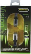 Profigold green line HDMi Kabel 3M Gold plated