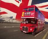 Londen Bus - Fotobehang - 232 x 315 cm - Multi