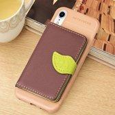 Let op type!! Litchi textuur PU + TPU horizontale Flip lederen case voor iPhone XR  met houder & kaartsleuven & portemonnee & fotolijstjes (bruin)