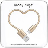 Happy Plugs Micro USB kabel champagne