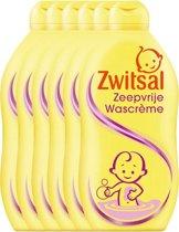 Zwitsal Zeepvrije Wascreme - 6 x 500  ml - Voordeelverpakking