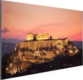 De Akropolis en het Parthenon Aluminium 120x80 cm - Foto print op Aluminium (metaal wanddecoratie)