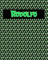 120 Page Handwriting Practice Book with Green Alien Cover Rodolfo