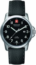 Swiss Military Hanowa 06-4231.04.007 quartz  zwart - leder band 5 ATM (douchen)