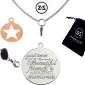 Pinkiezz munt ketting ster 'Beautiful Friends'