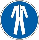Gebodssticker 'Beschermende kleding verplicht', ISO 7010