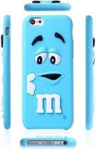 3D M&M snoep bescherm case telefoonhoesje voor uw Apple iPhone 5 / 5S / SE, blauw , merk i12Cover