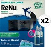 Bausch & Lomb ReNu Fresh comfort flight pack - 2 stuks - lenzenvloeistof - maandlenzen - zachte contactlenzen