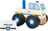 Houten politie auto - Small Foot Politie-auto Bouwvoertuig