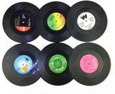 Set van 6 Onderzetters Retro LP's   Onderzetters Vinyl