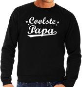 Coolste papa cadeau sweater zwart heren - zwarte Coolste papa kado trui L