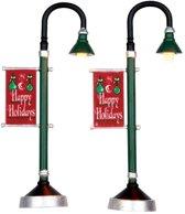 Lemax - Municipal Street Lamp -  Set Of 2 -  B/o (4.5v)