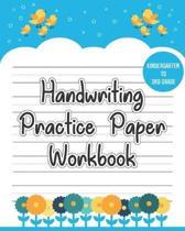 Handwriting Practice Paper Workbook: Blank Writing Sheets Notebook for Preschool and Kindergarten Kids - Handwriting Printing Workbook (Dotted Lines B