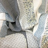 Lavandoux - Bedsprei/Quilt - Blauwe Patchwork - 2-persoons - 240x260