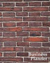 Business Planner 8 X 10 - Planner, Organizer and Record-Keeper - Red Bricks