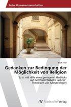 Gedanken Zur Bedingung Der Moglichkeit Von Religion