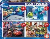 Educa Pixar - 4 puzzels van 50/80/100/150 stukjes