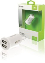 Sweex CH-011WH Autolader 2 2.1 A 2x USB Wit