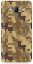 Galaxy J5 2016 Hoesje Pixel Camouflage Brown
