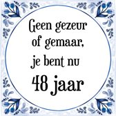 Bol Com Verjaardag Tegeltje Met Spreuk 48 Jaar Happy Birthday