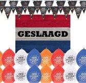 Geslaagd met je diploma feestartikelen pakket - versiering feestpakket
