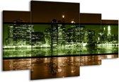 Canvas schilderij Steden | Groen, Bruin | 160x90cm 4Luik