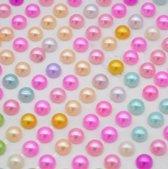 130 Oorbellen- plak- gekleurde- parel-Geen gaatje nodig