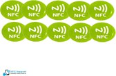 NFC Tags set 10 stuks Groen