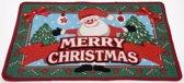 Kerst Deurmat Happy Santa 60x40 cm