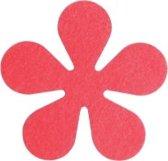 Papillon Glasonderzetters Bloem - Set van 6 Stuks - Rood