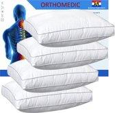 OrthoMedic Box Hoofdkussen Set (4 Stuks) - 50x60x10 cm - Wit