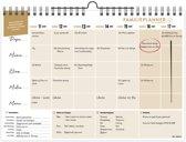 FamiliePlanner 2020 - muurkalender voor 5 personen - met feestdagen en schoolvakanties NL & BE - maaltijden, klusjes en boodschappenlijst