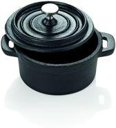 Gietijzeren mini-cocotte  Ø 10 cm met deksel