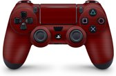 Playstation 4 Controller Skin Brushed Rood- PS4 Controller Sticker