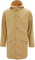 Rains Long Jacket 1202 Regenjas - Unisex - Zand