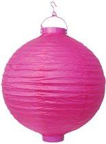 Lampion roze met licht 20cm