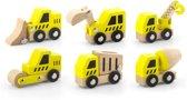 Viga Toys - Speelgoed Bouwvoertuigen - 6 stuks