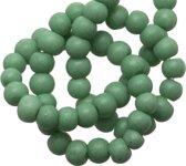 Glaskralen Stonewash (4 mm) Mint Green (110 Stuks)