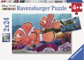 Ravensburger Disney Finding Nemo Nemo´s avonturen Twee puzzels van 24 stukjes