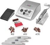 Nagelfrees JD500 zilver + 3 MBS® trapeze vijlen, bitsetje en 30 schuurrolletjes