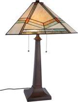 Tafellamp Tiffany 50*50*75 cm / E27/2*60W Multi | 5LL-5841 | Clayre & Eef