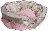 Happy-House Mandje Cat Lifestyle Met Bontrand Roze