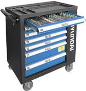 Hyundai gevulde gereedschapskar 288-delig - gereedschapswagen / gereedschapstrolley / verrijdbare werkbank