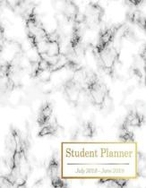 Student Planner July 2018 - June 2019: This Academic Planner is Designed To Help Students Increase Productivity by Organizing Schedule and Homework. G