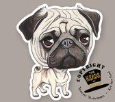 Magneet Hond Mopshond