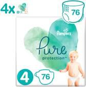 Pampers Pure Protection - Maat 4 - 9-14kg - 4 x 19 Stuks - Luiers