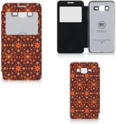 Samsung Galaxy Grand Prime Telefoon Hoesje Batik Brown