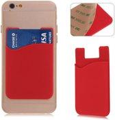 Rode kaarthouder - voor zowel Apple iPhone als Android Samsung