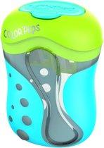 Color'peps potloodslijper 2-gaats - blauw/groen