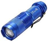 Cree Q5 LED zoombare Mini lamp - Blue